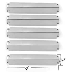 5 Pack Replacement Stainless Steel Heat Shield for Charbroil 463268207, 463268806, 463268706 & Presidents Choice PC25632, 09011039PC Gas Grill Models