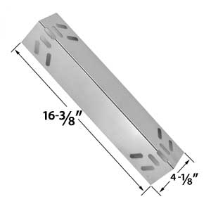 Replacement Stainless Steel Heat Plate for Kenmore 119.1614421, 119.162300, 119.162310, 119.16301, 119.16301800, 119.16302, 119.16302800, 119.16311, 119.16311800, 119.16312 Gas Grill Models