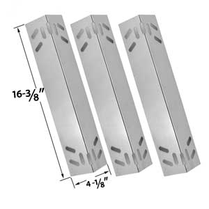 3 Pack Replacement Stainless Steel Heat Shield for Kenmore 119.1614421, 119.162300, 119.162310, 119.16301, 119.16301800, 119.16302, 119.16302800, 119.16311, 119.16311800, 119.16312 Gas Grill Models