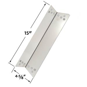 Replacement Stainless Steel Heat Shield / Heat Plate for Charbroil 463411512, 463411712, 463411911, C-45G4CB, Kenmore Sears, Kmart, Nexgrill and Tera Gear Gas Grill Models