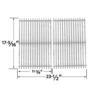 2 Pack Replacement Heavy Duty Stainless Steel Cooking Grid for Broil King 96824, 96827, 96844, 96847, 96894, 96897, 969-24, 969-27, 969-44, 969-47, 969-94, 969-97, 96924, 96994, 96997 Gas Grill Models