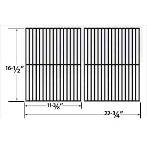 Replacement 2 Pack Porcelain Steel Cooking Grid for Kenmore 141.155400, 141.155401, 141.156400, 141.157902 and Ellipse 2000lp, 2100, 2101, 2102, 2105 Gas Grill Models