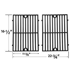 2 Pack Replacement Gloss Cast Iron Cooking Grid for Vermont Castings CF9030, CF9030LP, Sizzler, Sizzler Built-In, VC3505, VCS3006, VCS3505, VCS3506, VM406, VC30 Gas Grill Models