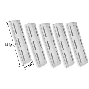 5 Pack Replacement Stainless Steel Heat Shield for Kmart 640-117694-117, Brinkmann, Grill Chef PAT502, Grand Hall & Kenmore 17682, 17684, 640-117694-117, 141.163291, 141.162271 Gas Grill Models