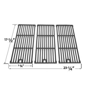 3 Pack Replacement Cast Iron Cooking Grid for Amana AM26LP, AM27LP, AM30LP-P, AM33, AM33LP-P, Surefire SF278LP and Kenmore 148.16656010 Gas Grill Models
