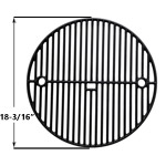 "Replacement Premium Cast Iron Two Level Cooking Grate 18-3/16"" for Big Green Egg Large, Vision VGKSS-CC2 Kamado Charcoal Grill and Broil King Keg 4000 Gas Grill Models"
