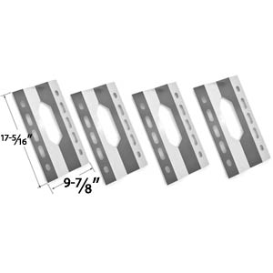 4 Pack Replacement Stainless Steel Heat Shield for Nexgrill 720-0008-T, 720-0108, 778627 Gas Grill Models
