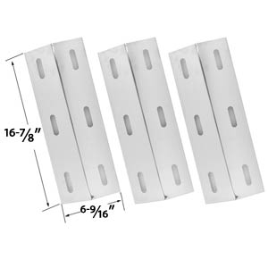 3 Pack Replacement Stainless Steel Heat Plate for Ducane 30500602, 30400040, 30500048 Gas Grill Models