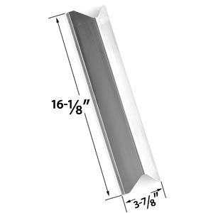 Replacement Stainless Steel Heat Plate/shield for Kenmore 119.16433010, 119.16240, Master Forge B10LG25, Perfect Flame and BBQTEK Gas Grill Models