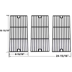 3 Pack Replacement Gloss Cast Iron Cooking Grid for Charbroil 463240804, 463240904, 463241704, 463241804, 463247004, 463251505, 463251605, 463252005, 463252105 Gas Grill Models
