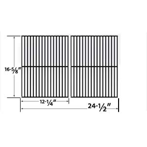 2 Pack Replacement Porcelain Steel Cooking Grid for Char-Broil 463247004, 463251505, 463251605, 463252005, 463252105, 463253905, 463254405, 463261306, 463261406, 463320109 Gas Grill Models