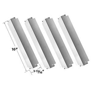 Replacement Kit Includes 4 Stainless Steel Burners and 4 Stainless Steel Heat Shields and 3 Stainless Steel Crossover Tubes for Kenmore 415.16942010 Gas Grill Models