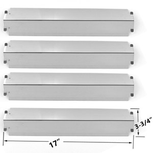 4 Pack Replacement Stainless Steel Flame Tamers for Presidents Choice PC25632, 09011039PC & Charbroil 463268207, 463268806, 463268706 Gas Grill Models