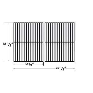 2 Pack Replacement Porcelain Steel Cooking Grid for Charbroil 463248108, 463268007, 463268008, 463268606, 463268706, 466248108 and Members Mark B09PG2-4B Gas Grill Models