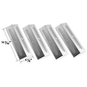 4 Pack Replacement Stainless Steel Flavorizer Bar for Grillpro 226454, 226464, 236454, 236464, Sterling 526454, 526464, 536454, 536464 & Broil-mate 726454, 726464, 736454, 736464 Gas Grill Models