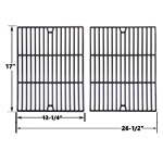 2 Pack Porcelain Cast Iron Replacement Cooking Grid for Uniflame GBC091W, GBC940WIR, GBC956W1NG-C, GBC981W, GBC981W-C, GBC983W-C Gas Grill Models