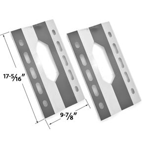 2 Pack Replacement Stainless Steel Heat Shield for Glen Canyon 720-0026-LP, 720-0152-LP, Kirkland 720-0108 and Sterling Forge 720-0016 Gas Grill Models