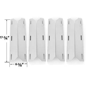 4 Pack Replacement Stainless Steel Heat Shield for Nexgrill 681955, 720-0074, 720-0093, 720-0096, 720-0101, 720-0145, 730-0512, 720-0145, 738505, 720-0026, 720-0061, 720-0062, 720-0063 Gas Grill Models