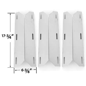 3 Pack Replacement Stainless Steel Heat Plate for Member's Mark 720-0582, 720-0586, 720-0586A, Jenn-air, Nexgrill, Sams 720-0586A & Sterling Forge Chateau 3304, Estate 2704 Gas Grill Models