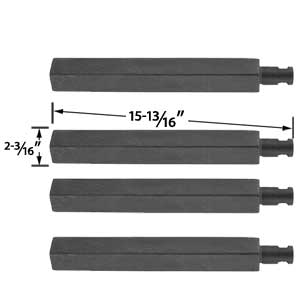 4 Pack Replacement Cast Iron Grill Burner for Charbroil 61252705, 463241004, 463241904, 463247404, 463247504, 463251705, 463252205, 463254205, Virco 720-0032 and Thermos 461252705 Gas Grill Models