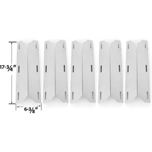 5 Pack Replacement Stainless Steel Heat Shield for Nexgrill, Glen Canyon, Jenn-air 720-0141-LP, 720-0142, 720-0142-LP, 720-0150, 720-0150-LP, 720-0151-NG, 720-0164-LP, 720-0165 Gas Grill Models