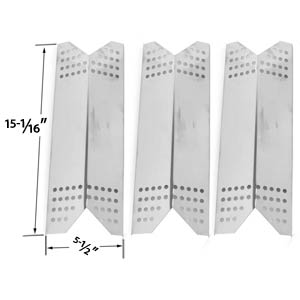 3 Pack Replacement Stainless Steel Heat Plate for Kenmore Sears 122.16431010, 122.16435010, 122.16643900, 16539, 1664, Nexgrill & Grill Master Gas Grill Models