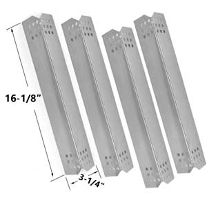 Repair Kit Includes 4 Stainless Steel Heat Plates and 4 Stainless Steel Burners for Kitchen Aid 720-0733A Gas Grill Models