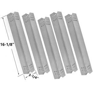 Replacement Kit Includes 5 Stainless Steel Heat Plates and 5 Stainless Steel Burners for Jenn-Air 720-0709, 720-0709B, 720-0727 Gas Grill Models