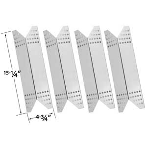 4 Pack Replacement Stainless Steel Heat Plate for Members Mark 720-0691A, 720-0778A, 720-0778C, 730-0691A, Sams 720-0691A, 730-0691A and Nexgrill 720-0691A, 720-0744, 85-3225-6 Gas Grill Models