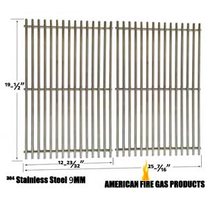 Replacement 9mm Heavy Duty Stainless Steel Cooking Grates for Weber 7528, Genesis E and S series Gas Grill Models, Set of 2