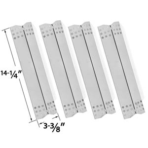 4 Pack Replacement Stainless Steel Heat Shield for Grill Master 720-0737, 720-0697, Nexgrill 720-0697, Uberhaus 780-0003, Tera Gear 780-0390 & Duro 780-0390 Gas Grill Models