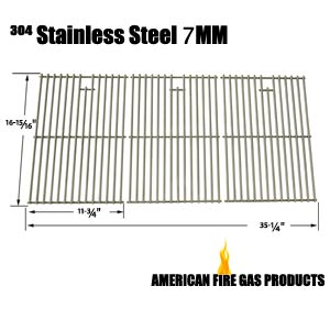 Replacement 3 Pack Stainless Steel Cooking Grid for Master Chef 85-3008-4, T620NG, G65001, G65002, Nexgrill 720-0419 and North American Outdoors 720-0419, BB10837A Gas Grill Models
