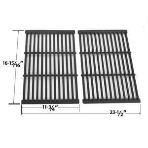 2 Pack Replacement Cast Iron Cooking Grid for Grill Chef SS525-B, SS525-BNG, Grand Hall REGAL04CLP and BBQ Pro BQ51011 Gas Grill Models