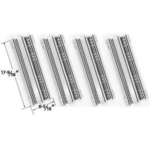 4 Pack Replacement Stainless Steel Heat Plate for Brinkmann and Charmglow Gas Grill Models