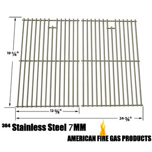 Replacement Stainless Steel Cooking Grid For Brinkmann Augusta 810-4040-B, Austin 810-6330-B, Grand Gourmet 2250, 810-2250-0 Gas Models, Set of 2