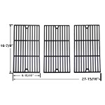 3 Pack Replacement Porcelain Cast Iron Cooking Grids for Master Chef 85-3100-2, 85-3101-0, G43205, T480 and Kenmore 461442513 Gas Grill Models