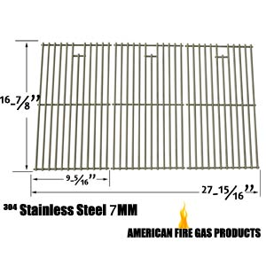 Repair 3 Pack Stainless Steel Cooking Grid for Charbroil 463420507, 463420509, Kenmore 463420507, 461442513 and Master Chef 85-3100-2, G43205 Gas Grill Models