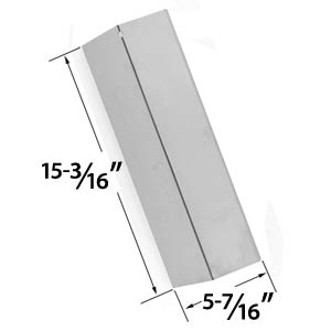 Replacement Stainless Steel Heat Plate for Sonoma 949725CGR27, 949725CGR27LP, CGR30LP, SGIR27, SGR27, SGR27LP, SGR30MLP, Coleman 9998, Tuscany, Sure Heat for Costco Gas Grill Models