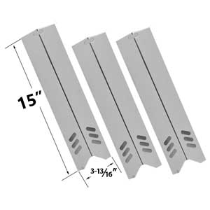3 Pack Replacement Stainless Steel Heat Plate for Uniflame, Backyard Classic BY12-084-029-98, BY13-101-001-12, BY13-101-001-13, GBC1255W & BHG Gas Grill Models