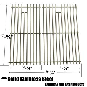 2 Pack Replacement Stainless Steel Cooking Grid for Brinkmann 810-3820-S, 810-3821-S, Dyna-Glo DGP350NP and Master Forge MFA350CNP Gas Grill Models