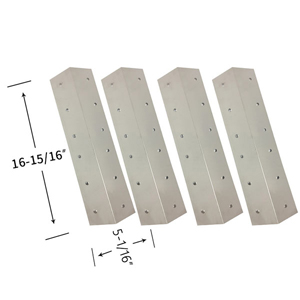 Coleman 9947A726 Stainless Steel Replacement Heat Shield (4-Pack)
