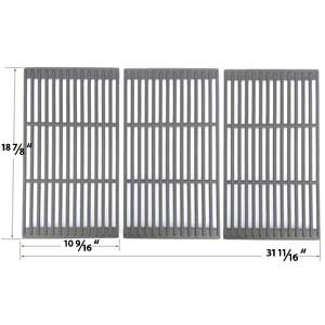 Replacement Cast Iron 3 Pack Cooking Grates For Jenn Air 720-0709, 720-0709B, 720-0720, 720-0727, 730-0709, 720-0709C Gas Grill Models