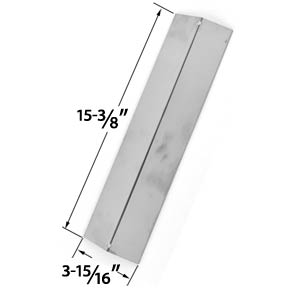 Replacement Stainless Steel Heat Plate for Aussie, Brinkmann, Uniflame, Charmglow, Grill King, Master Forge & Lowes Gas Grill Models