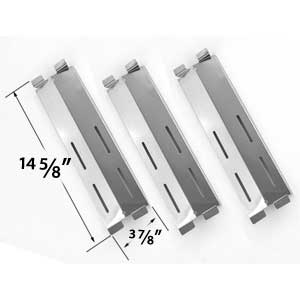 3 Pack Replacement Stainless Steel Heat Plate for Coastal 9900, Cruiser, Supreme, Grand Hall MFA05ALP, Patio Range, Grand Hall, Members Mark M3206ALP, M3206ANG, Patio Chef Gas Grill Models