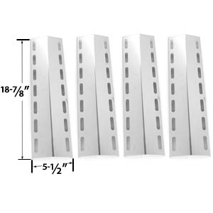 4 Pack Replacement Stainless Steel Heat Shield for Nexgrill 720-0133, 720-0133-LP Gas Grill Models