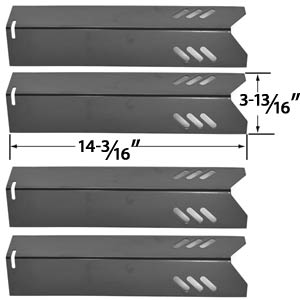 4 Pack Replacement Porcelain Steel Heat Shield for Uniflame GBC1030W, GBC1030WRS, GBC1030WRS-C, GBC1134W, GBC1134WRS, Uniflame GBC1134WBL Lowes Gas Grill Models