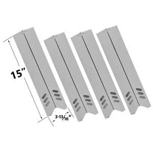 4 Pack Replacement Stainless Steel Heat Shield for Uniflame GBC1059WB, GBC1059WB-C, BHG BH13-101-001-01, GBC1362W & Backward Classic BY12-084-029-98, BY13-101-001-12 Gas Grill Models