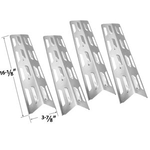 4 Pack Replacement Stainless Steel Heat Shield / Heat Plate for Backyard Classic BY12-084-029-97, BY12-084-029-98, Master Forge B10LG25, Uniflame GBC873W and Bond GSF2818KH Gas Grill Models