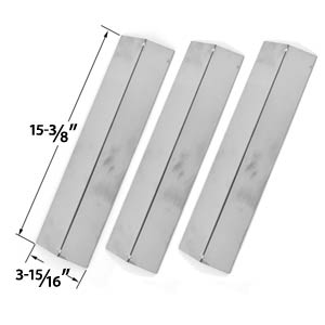 3 Pack Replacement Stainless Steel Heat Cover for Brinkmann, Uniflame GBC091W, GBC831WB, Charmglow & Grill King Gas Grill Models