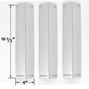 3 Pack Replacement Stainless Steel Heat Plate for Master Forge GCP-2601, GGP-2501, GGPL-2100CA, Charbroil, Brinkmann & Master Chef Gas Grill Models
